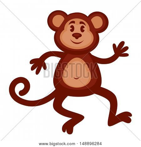 Monkey animal  icon. Vector illustration isolated on a white background.