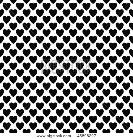 Abstract black and white heart pattern background design