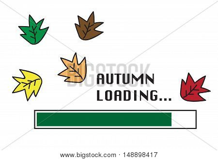 Happy Fall Autumn Leaves Falling Loading Sign