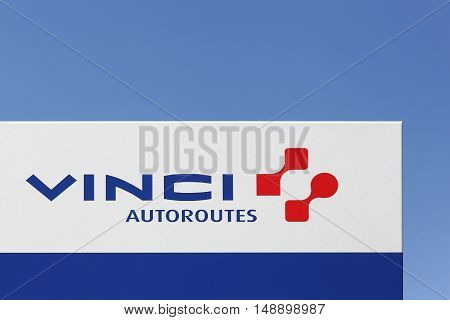 Neronde, France - June 23, 2016: Vinci is a French concessions and construction company founded in 1899 as Societe Generale d'Enterprises