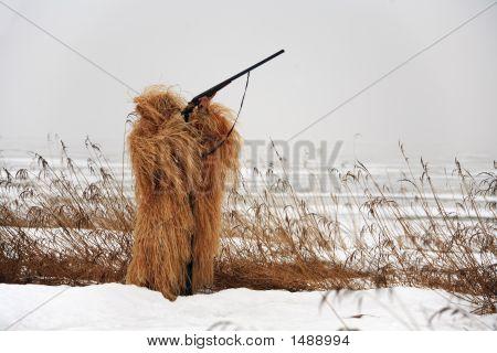 Masking Hunter With Rifle