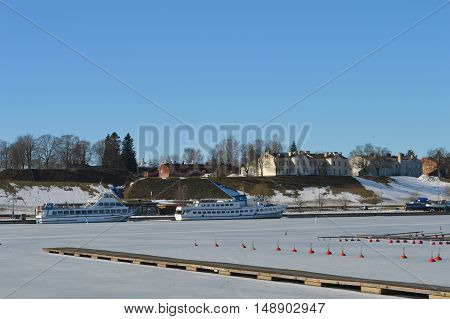 Spring time in Lappenranta city Eastern Finland