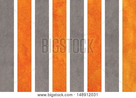 Watercolor Orange And Grey Striped Background.