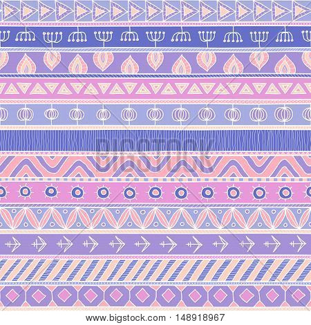Tribal multicolor seamless pattern. indian or african ethnic patchwork style. Vector image for textile decorative background wrapping paper