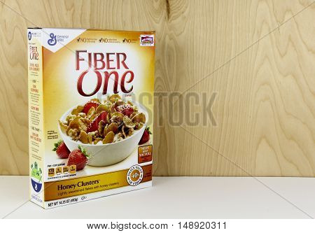 Spencer Wisconsin - September 26 2016 Box of General Mills Fiber One Cereal General Mills is an American based company founded in 1856