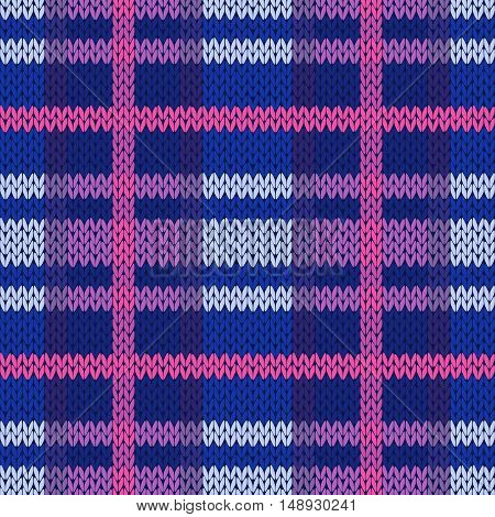 Seamless Knitted Pattern In Different Colors