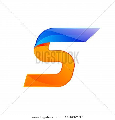 S letter blue and Orange logo design Fast speed design template elements for application.