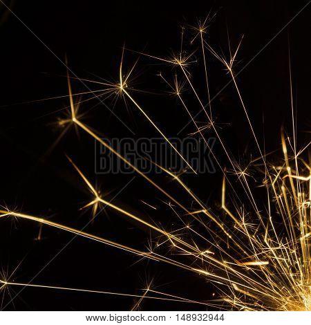 Celebration sparkler closeup