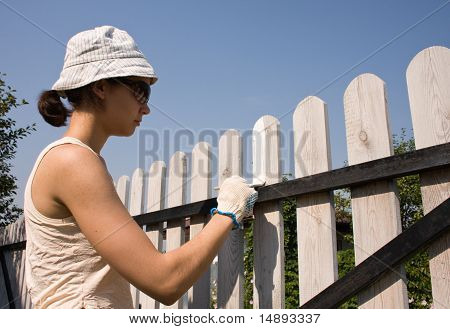 Beautiful Girl Colours  Fence