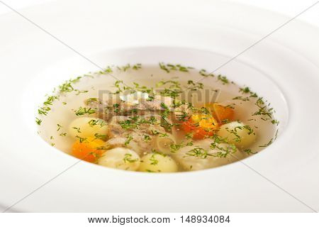 Soup with Fish and Vegetables