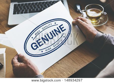Genuine Authentic License Product Real Trademark Concept