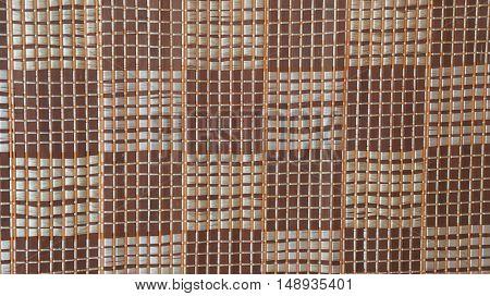 Bamboo mat pattern