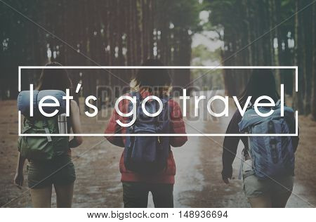 Travel Trip Vacation Destination Transportation Concept