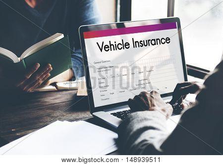 Vehicle Insurance Claim Form Concept