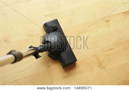 vacuum cleaner and copyspace showing housework or domestic life concept poster