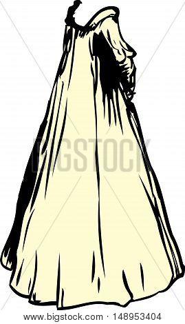 Yellow 1700's Era Nightgown