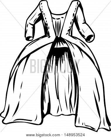 Outined 18Th Century Round Gown