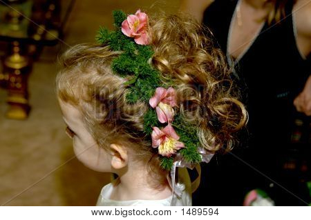 Flower Girl Has Beautiful Hairdo