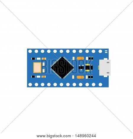 DIY electronic nano board with a microcontroller