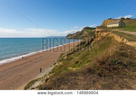 Eype Dorset England uk Jurassic coast south of Bridport and near West Bay poster