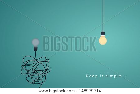 Keep it simple business concept for marketing, creativity, project management. Eps10 vector illustration.