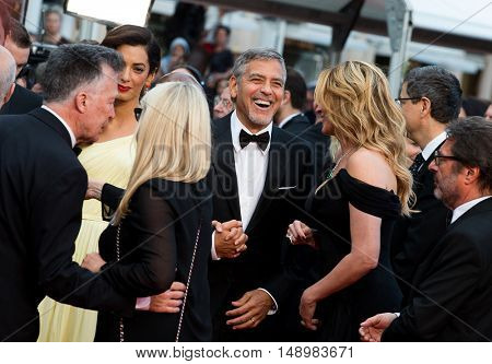 George Clooney, Jodie Foster and Julia Roberts  at the Money Monster Premiere at the 69th Festival de Cannes. May 12, 2016  Cannes, France