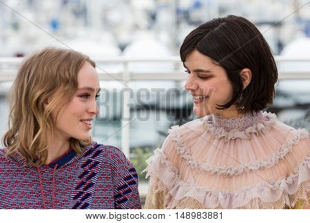 Melanie Thierry,  Soko  at the photocall for The Dancer (La Danseuse) at the 69th Festival de Cannes. May 13, 2016  Cannes, France