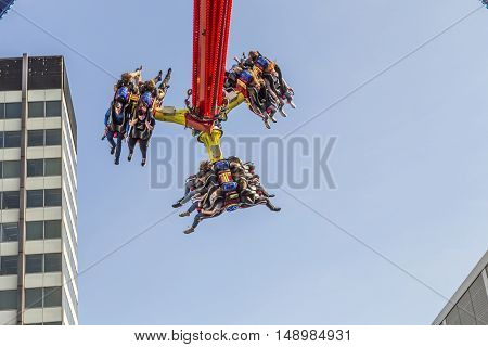 People Enjoy The Carousels At Photokina  In Cologne