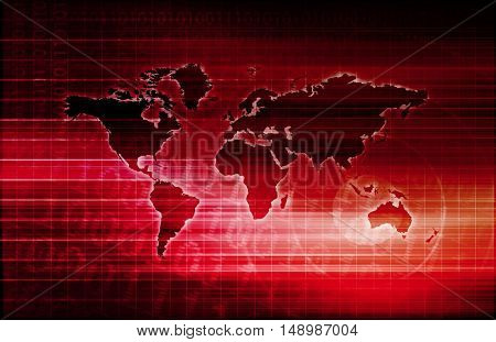 Telecommunications System with World Map Data Moblity
