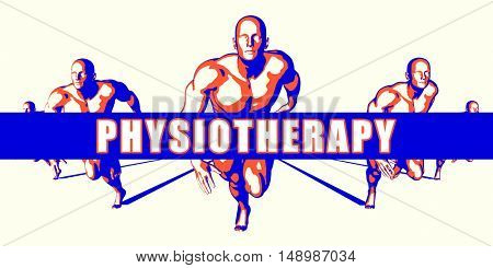 Physiotherapy as a Competition Concept Illustration Art 3D Illustration poster