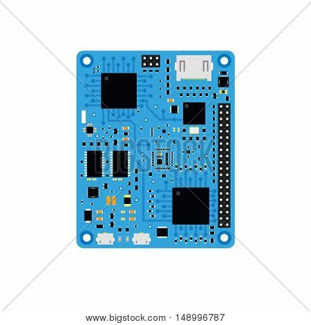 DIY electronic blue high end board with a microcontroller