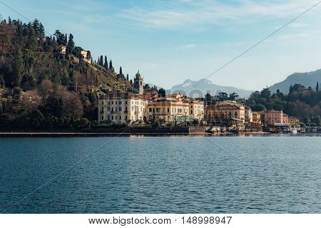 Bellagio old town at the Italian lake Como during the spring