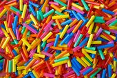 colorful background from plastic straws, abstrack photo poster