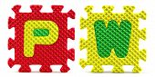 Country Abbreviations - Image of letter toys making the country abbreviations poster