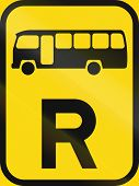 Temporary road sign used in the African country of Botswana - Reservation for midi-buses. poster