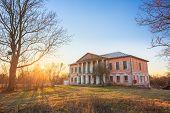 Old Palace Manor Of Landowner Voynich-Senozhetskih Village Khal'ch In Vetka District, Belarus. poster