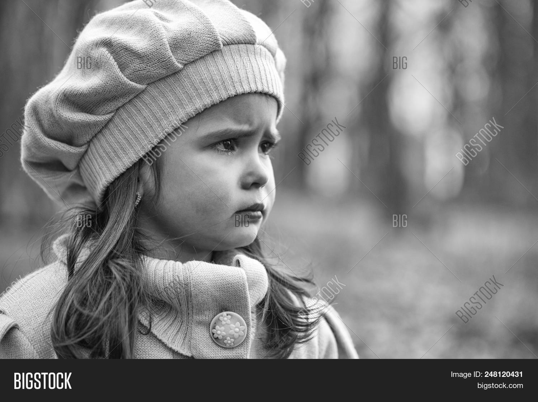 girl with a sad face