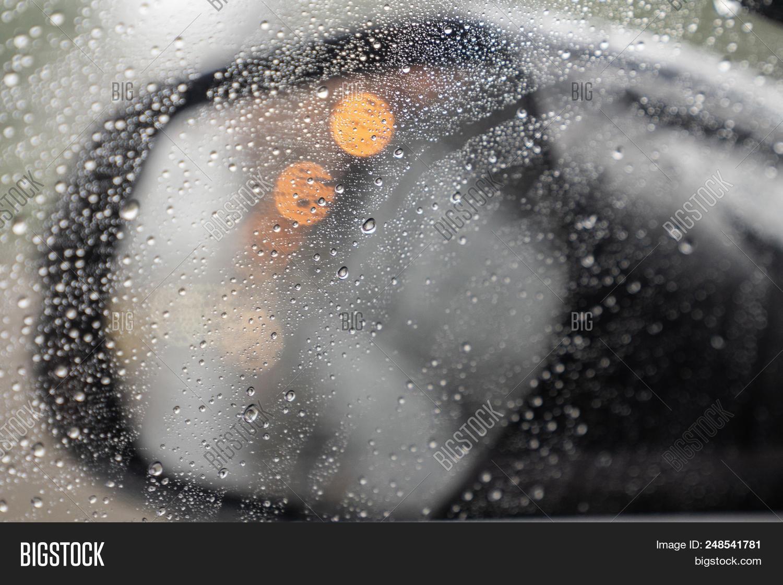 Rain Drops Car Lights Image Photo Free Trial Bigstock