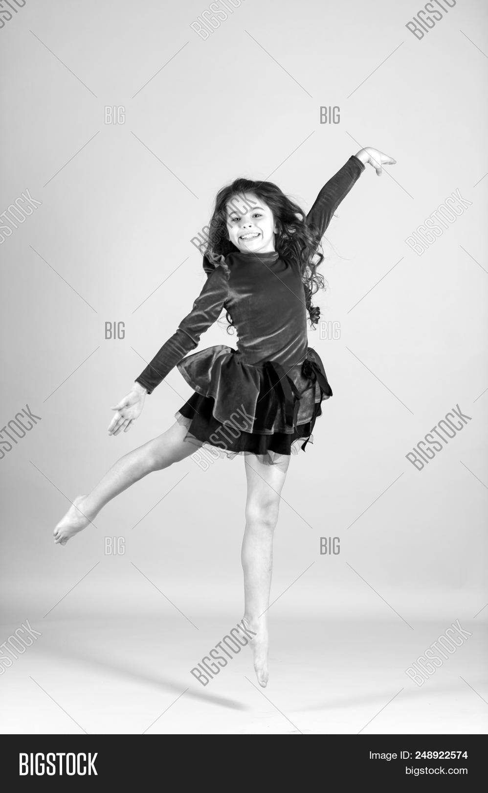 465307472 Child Dance Red Dress Image   Photo (Free Trial)