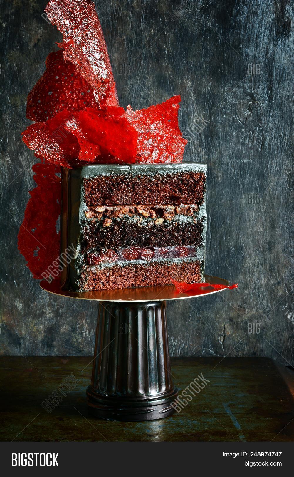 Marvelous Extravagant Cake Black Image Photo Free Trial Bigstock Funny Birthday Cards Online Necthendildamsfinfo