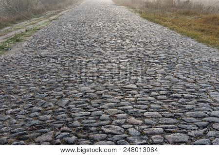 An Ancient Stone Road In Sumskaya Oblast, Ukraine