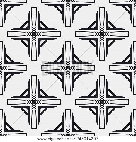 Art Deco Pattern. Seamless background. Geometric design. 1920-30s motifs. Luxury vintage illustration poster
