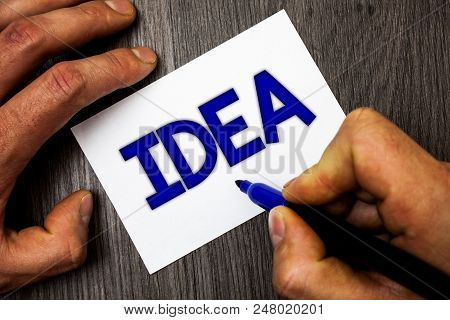 Conceptual Hand Writing Showing Idea. Business Photo Showcasing Creative Innovative Thinking Imagina