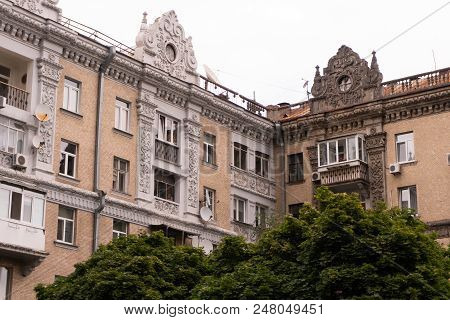 Old Houses Of European Architecture. Vintage Appearance.