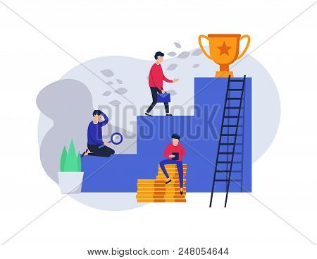 Career. The Concept For A Web Page. Stairs To Success. Cup Winner. Teamwork To Success