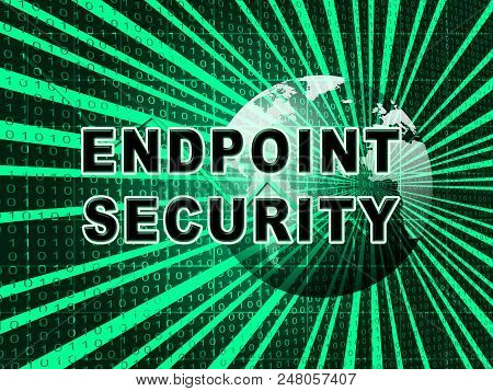 Endpoint Security Safe System Protection 3D Illustration