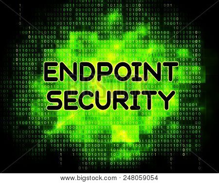 Endpoint Security Safe System Protection 2D Illustration