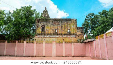Bodhgaya, India - July 9, 2015. Part Of Mahabodhi Temple Complex In Bodhgaya, India.