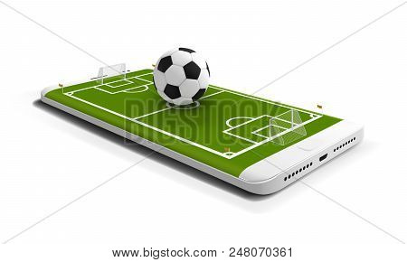Mobile Football Soccer. Mobile Sport Play Match. Online Soccer Game With Live Mobile App. Football F