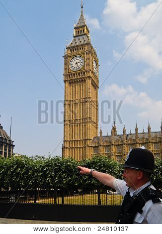 London policeman under Big Ben